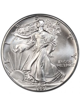 1991 American Silver Eagle 1 oz Silver Coin