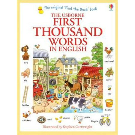 First Thousand Words in English (Usborne First Thousand Words) (Best English Words Ever)