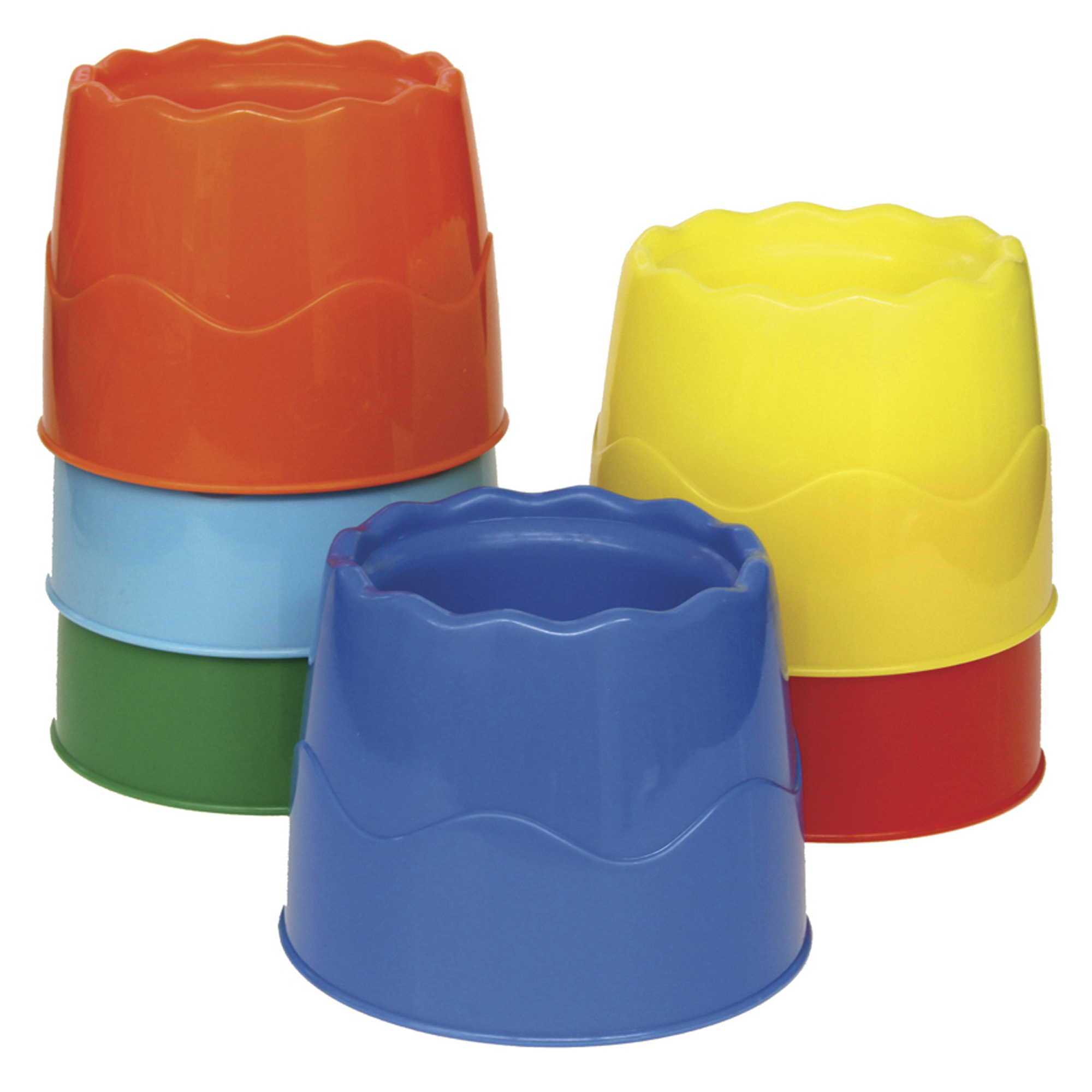 "Creativity Street® Stable Water Pots, Assorted Colors, 4.5"" Diameter, 6 Per Pack, 2 Packs"