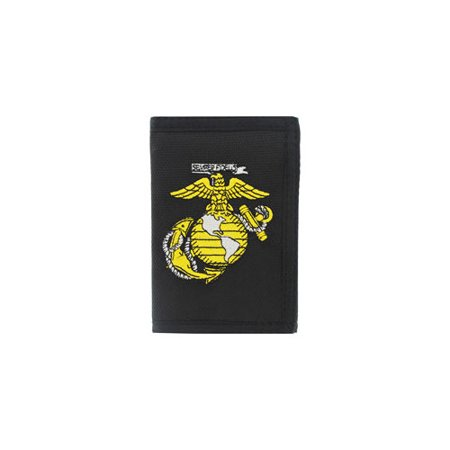 U.S. MILITARY MERCHANDISE Nylon Wallet with Marines Insignia Patch WL0015