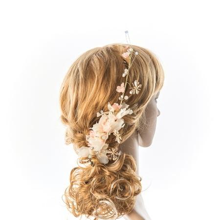 Simple Hair Vine Thin Baby'S Breath Hair Jewelry Pearl Spirited Bride Hair Accessories Dainty Wedding Hair Piece - Hair Vine