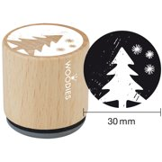 """Woodies Mounted Rubber Stamp 1.35""""-Christmas Tree"""
