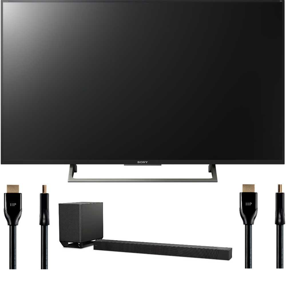 Sony 55-Inch 4K Ultra HD Smart LED TV (2017 Model) HTST5000 Bundle