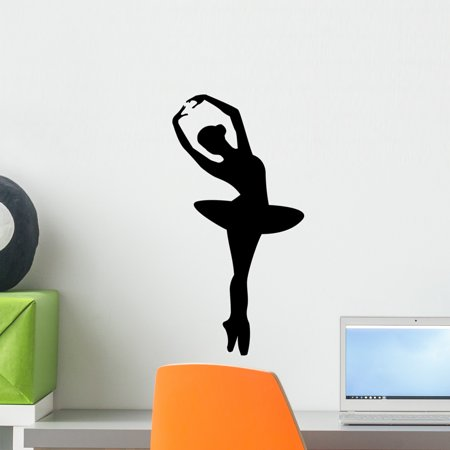 Ballerina Wall Decal by Wallmonkeys Peel and Stick Graphic (18 in H x 9 in W) WM306514 ()