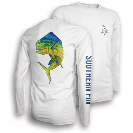 Performance Fishing Shirt Unisex Southern Fin UPF 50 Dri Fit Long Sleeve Apparel - 50 Clothes