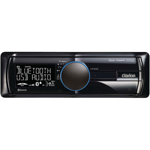 Clarion FZ502 Mechless MP3/WMA Receiver with USB Port and Bluetooth