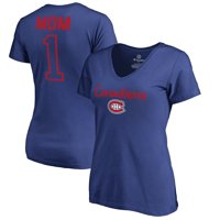 Montreal Canadiens Fanatics Branded Women's Number 1 Mom T-Shirt - Royal