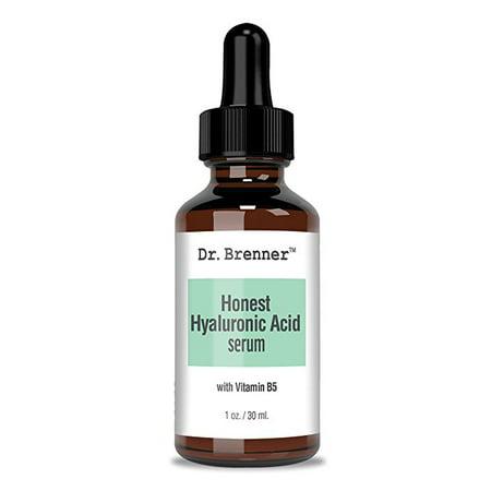 Hyaluronic Acid Serum - Dr. Brenner Honest Hyaluronic Acid Serum, Effective Plumping Anti-Aging HA Serum With Vitamin B5 1 oz. Great as Gift