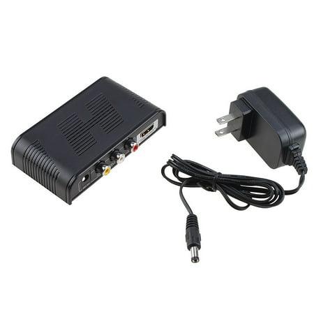 Agptek Av Cvbs Composite Video Audio 3Rca And Audio  L R  To Digital Hdmi Converter Box Unique Color Eye Technology