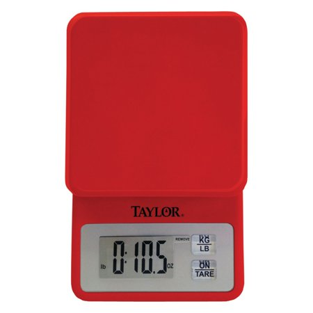 Red 18th Scale - Taylor Compact Kitchen Scale, Red