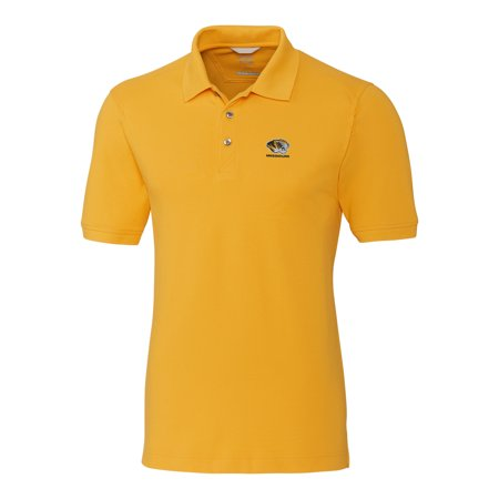 Missouri Tigers Cutter & Buck Collegiate Big & Tall Advantage DryTec Polo - Gold
