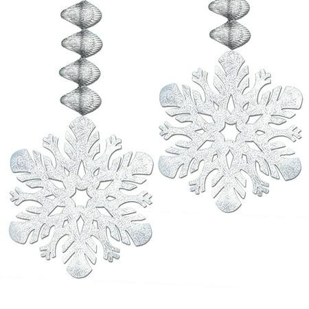 Foil Snowflake Danglers   (2/Pkg)