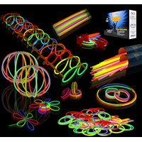 200-piece Glow Stick and Glow Accessories Pack, Great for Party Favors