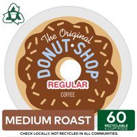 The Original Donut Shop Regular K-Cup Coffee Pods, Medium Roast, 60 Count for Keurig Brewers