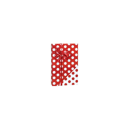 Red and White Polka Dot Reversible Double-Sided Birthday / Special Occasion Gift Wrap Wrapping Paper-16ft