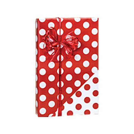 Red and White Polka Dot Reversible Double-Sided Birthday / Special Occasion Gift Wrap Wrapping (Special Occasion Gift Wrap)
