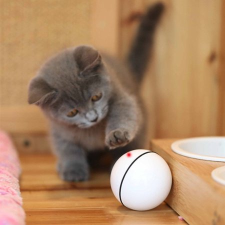 VENSE Interactive Cat Toys with Usb Rechargeable Toys with Rolling Balls Laser - image 5 of 10
