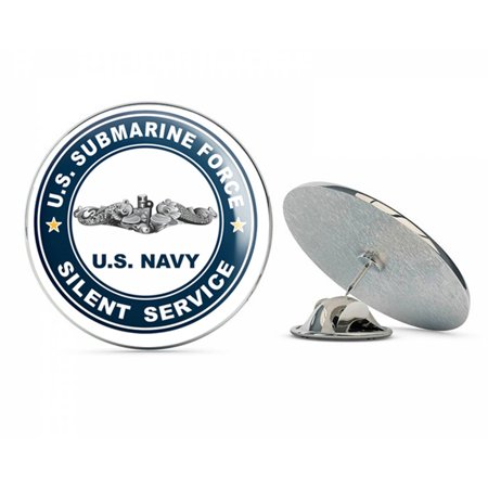 US Navy US Submarine Force Silent Service Silver Dolphins  Military Veteran USA Pride Served Gift Metal 0.75