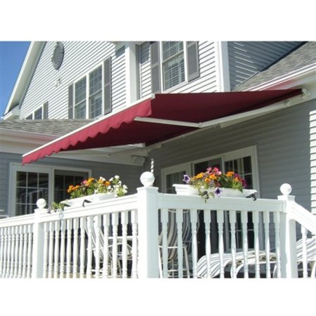 ALEKO® Retractable 10' X 8' Patio Awning Motorized 10ft x 8ft (3m x 2.5m) Burgundy Color - image 2 of 5