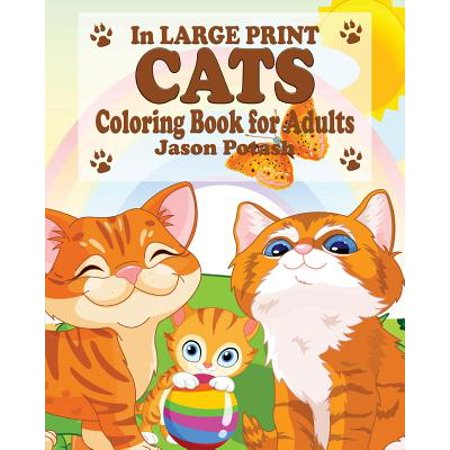Cats Coloring Book for Adults ( in Large Print)](Cat Coloring Sheet)