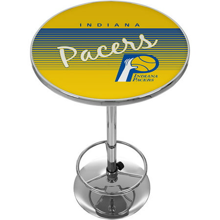 Indiana Pacers Hardwood Classics NBA Chrome Pub Table by