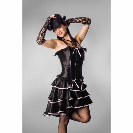 Lava Diva Can-Can Dancer Corset Women's Plus Size Adult Halloween Costume - Plus Size Corset Halloween Costumes