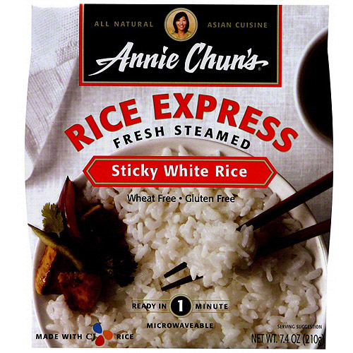 Annie's Naturals Rice Express White Sticky Rice, 7.4 oz (Pack of 6) by ANNIE CHUN'S