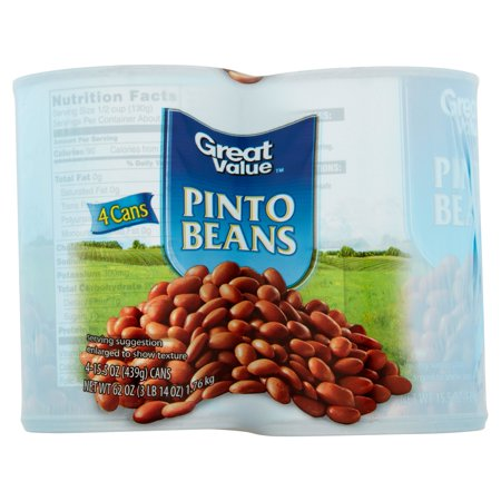 Great Value Pinto Beans  15 5 Oz  4 Count