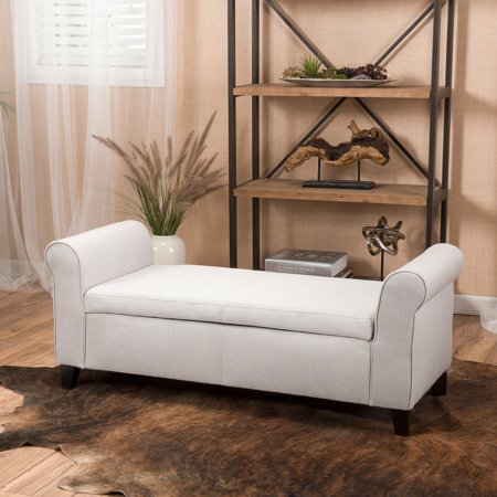 Surprising Stetson Armed Light Grey Fabric Storage Bench Walmart Canada Ocoug Best Dining Table And Chair Ideas Images Ocougorg