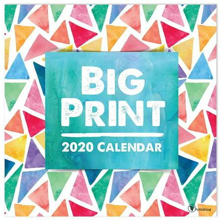 2020 Big Print - Large Grid 12 x 12 Planning Wall Calendar (Wall Calendar Big Print)