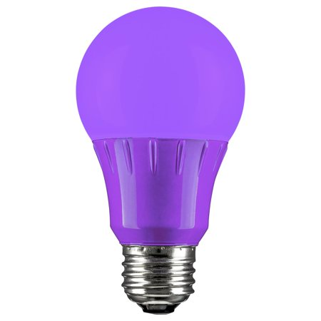 LED A Type Purple 3W Light Bulb Medium (E26) Base