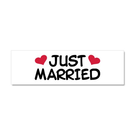 CafePress - Just Married Wedding - Car Magnet 10 x - Wedding Magnets