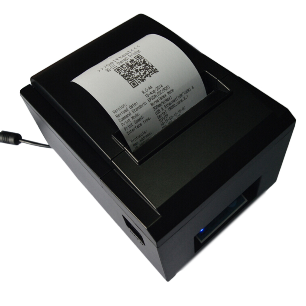 80mm Receipt POS Thermal Printer For ios & Android & Windows Thermal Printing