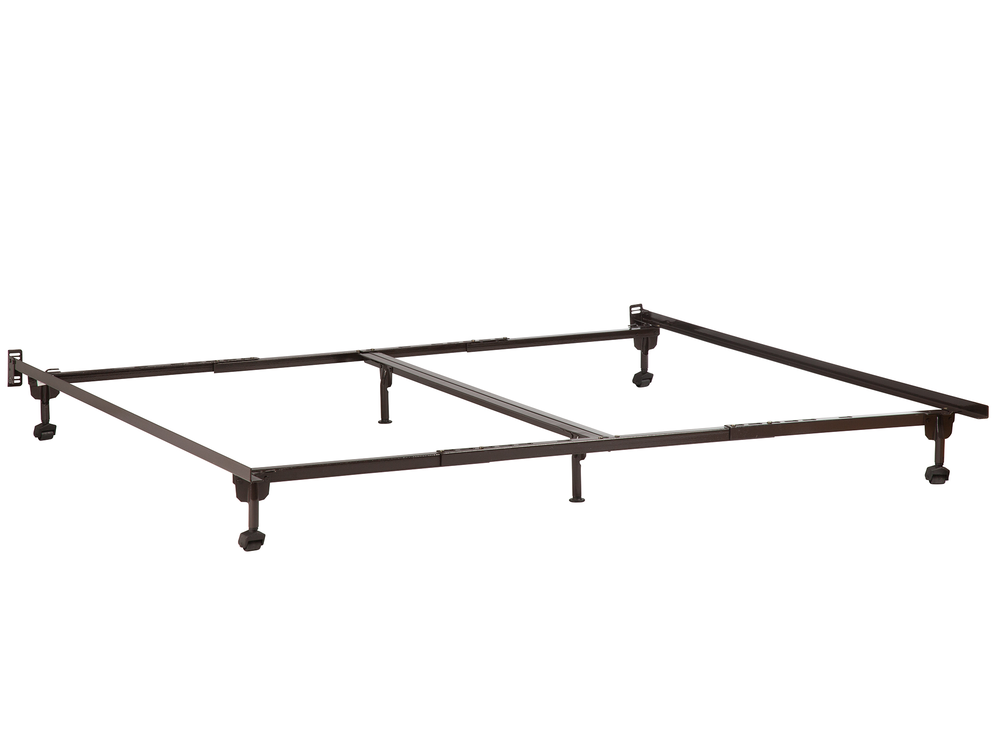 Metal Bed Frame TwinFullTwin XLQueenCalifornia KingKing Rollers