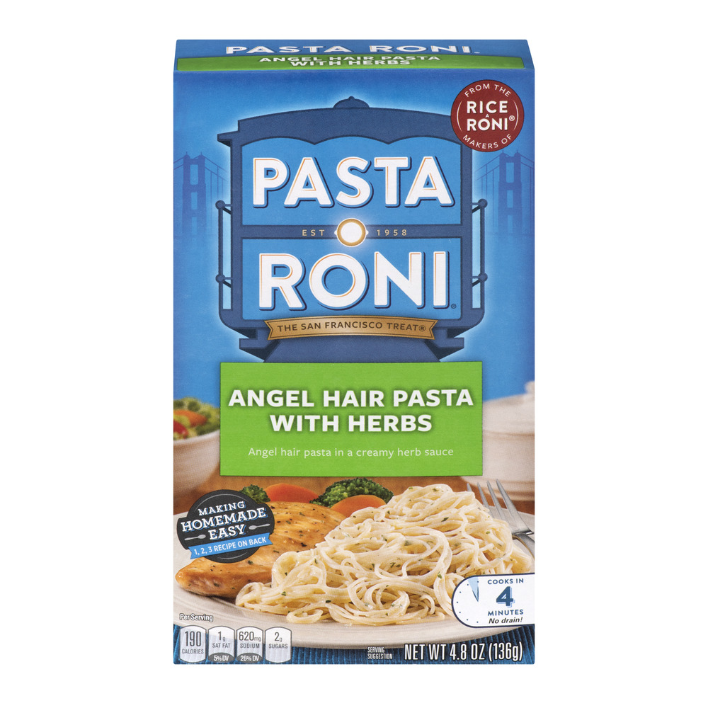 Pasta Roni Angel Hair Pasta with Herbs, 4.8 oz Box