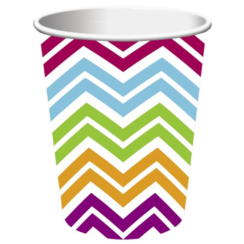 Creative Converting Chevron 9 oz Paper Cup, 8 count