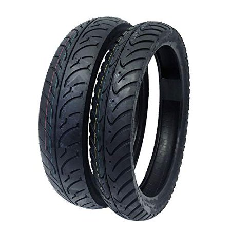 MMG TIRE Set Combo Front Tire 80/80-16 and Rear Tire 100/80-16 Motorcycle Scooter Street
