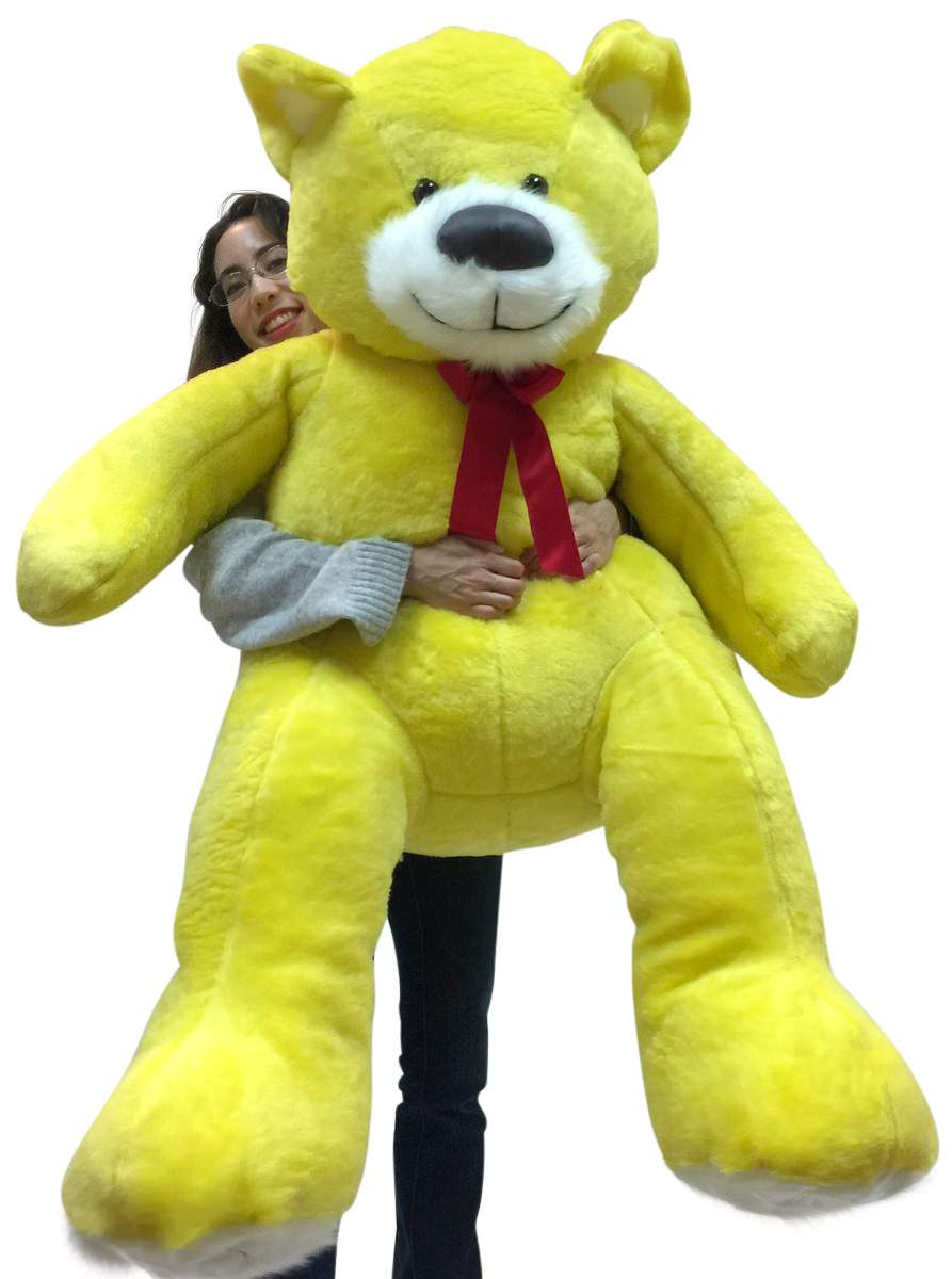 5 Foot Super Soft Yellow Teddy Bear Big Plush 60 Inch Large Stuffed Animal Made in USA by BigPlush
