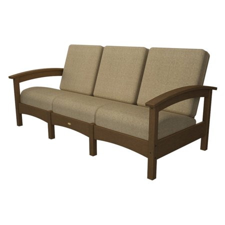 Trex Outdoor Furniture Recycled Plastic Rockport Club Sofa with Sunbrella Cushions