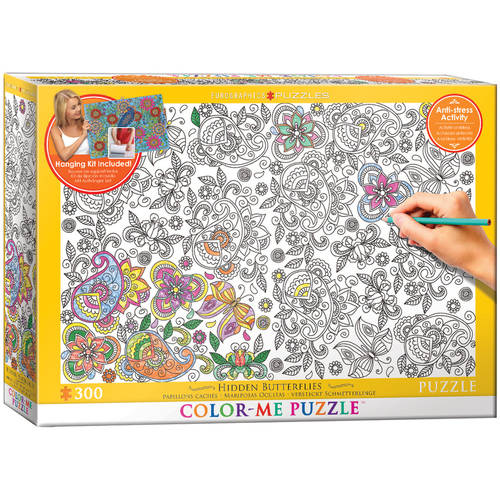 EuroGraphics Color-Me Hidden Butterflies 300-Piece Puzzle