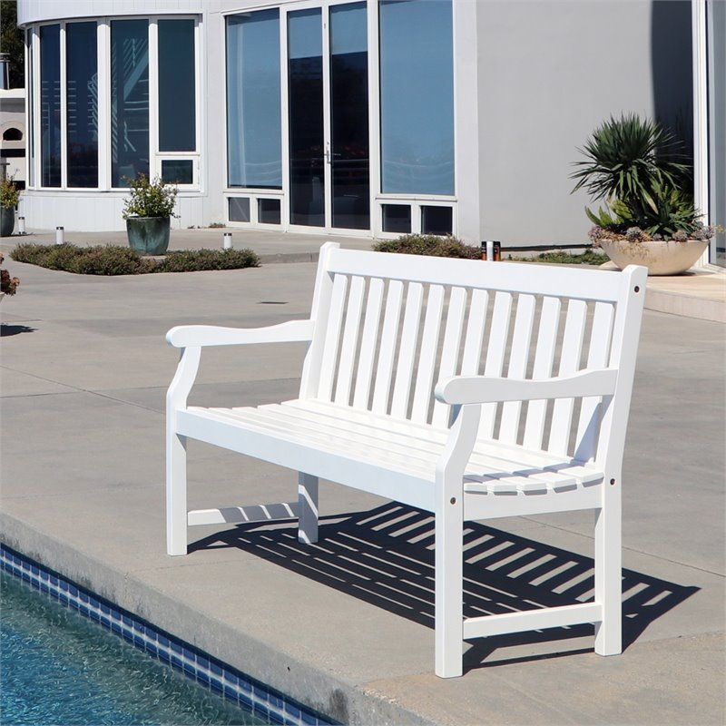 Pemberly Row Outdoor Bench in White