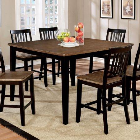 Furniture of America  Fresial Rustic Oak/Espresso Counter Height Table - Oak