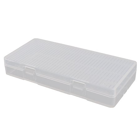 Clear Plastic Sealed Battery Storage Box Case Holder for 8 x AA Batteries