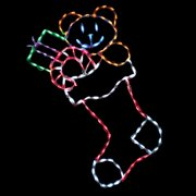 44 in. Outdoor LED Large Stocking with Toys Display - 150 Bulbs