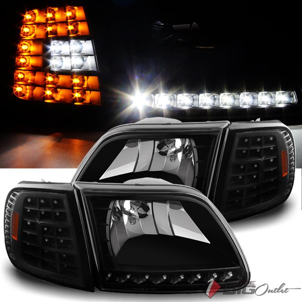 For 1997 2003 Ford F150 1997 2002 Expedition Led Headlights Led Corner Head Lights Pair L R 1998 1999 2000 2001 2002 Walmart Com Walmart Com