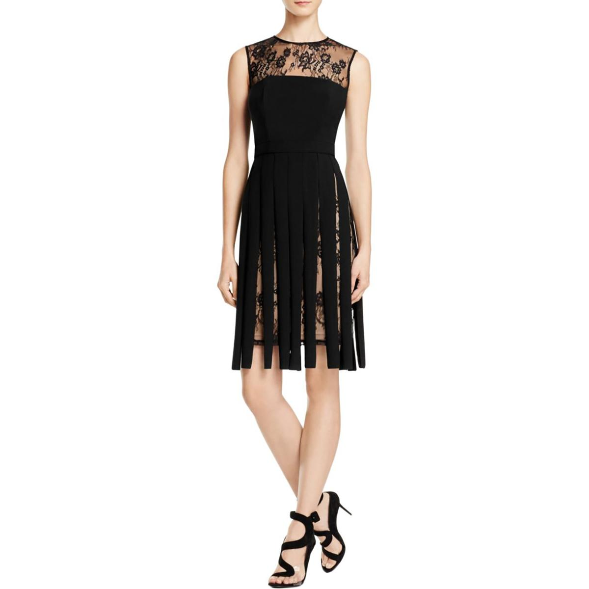 JS Collections Womens Lace Fringe Cocktail Dress