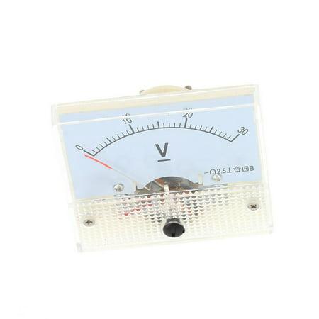 DC30VProfessionalAnalogPanelVoltVoltageMeterTesterGauge85C10-30VVoltmeter - image 7 de 7