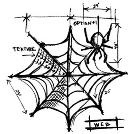 """Web Sketch - Tim Holtz Mounted Red Rubber Stamp 3""""X4.5"""""""