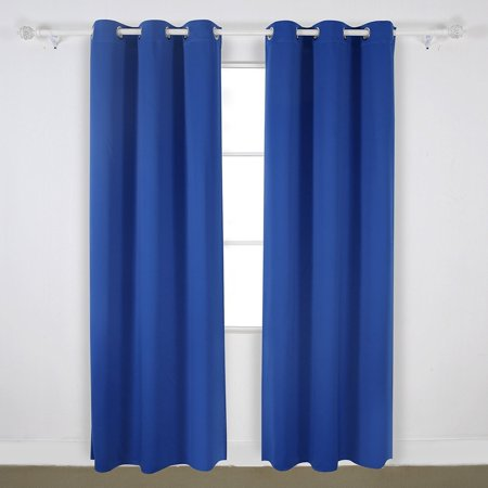 Angel Solid Grommet Blackout Panel Curtain Thermal   108 Inch   Royal
