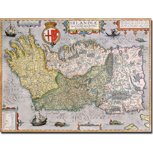 Trademark Art 'Map of Ireland' Canvas Art